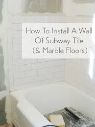 4x16 Subway Tile Trowel Size by How To Install Subway Tile In A Shower U0026 Marble Floor Tiles