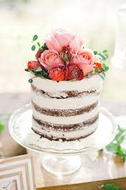 LOVE Naked Cakes Brides Prettiest Wedding Cake Flowers By Plenty Of Petals