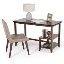 Walker Edison 3 Piece Contemporary Desk Multi by Simpli Home Artisan Medium Auburn Brown Desk With Storage