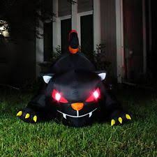 Halloween Blow Up Yard Decorations Canada by Inflatable Cat Ebay