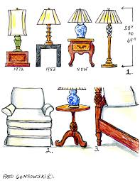 Set Of Bedside Table Lamps by The Right Height For Lamps And End Tables Decorating Tips