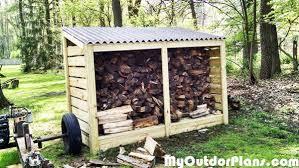 diy firewood storage shed myoutdoorplans free woodworking