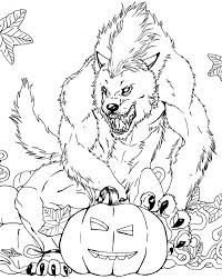 Halloween Coloring Pages Werewolf Monster Free Online And Printable For