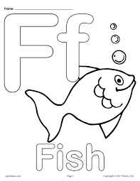Uppercase And Lowercase Letter Ff Coloring Page