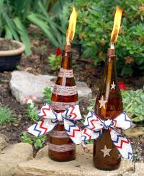 Patriotic DIY Tiki Torches - Upcycle Bottles Into Portable ... Outdoor Backyard Torches Tiki Torch Stand Lowes Propane Luau Tabletop Party Lights Walmartcom Lighting Alternatives For Your Next Spy Ideas Martha Stewart Amazoncom Tiki 1108471 Renaissance Patio Landscape With Stands View In Gallery Inspiring Metal Wedgelog Design Decorations Decor Decorating Tropical Tiki Torches Your Garden Backyard Yard Great Wine Bottle Easy Diy Video Itructions Bottle Urban Metal Torch In Bronze