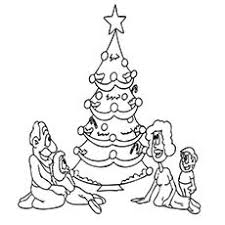 Christmas Tree Decorated Picture To Color