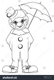 Clown With Balloons Coloring Page