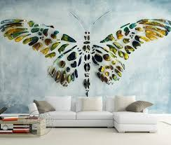 Personalized Custom Wall Murals 3D Butterfly Painting Wallpaper Inside Art Paintings For Bedroom