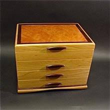 Cherry Wood Box With Madrone Burl Inset Top Wenge Accents