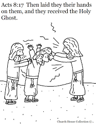 Holy Ghost Coloring Page Church House Collection Blog Acts 817 Received The Picture