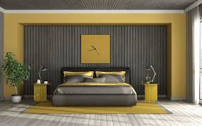 herunterladen hintergrundbild gelb schwarzes schlafzimmer