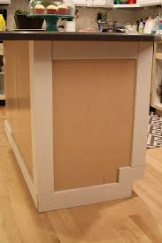 Base Cabinet Filler Strip by How To Add Moulding To A Kitchen Island Withheart
