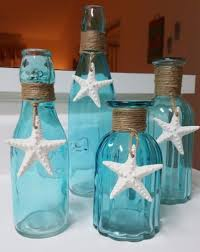 Pinterest Bathroom Ideas Beach by Starfish Beach Glass Vase Sea Glass Vase Beach Decor Blue