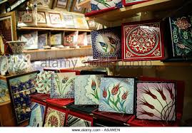 painted ceramic tiles istanbul stock photos painted ceramic