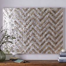 Spectacular Design Capiz Wall Art Together With Floral Metal Foter 2 Chevron West Elm Triptych Flower