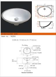 small oval porcelain undermount sinks synmar castech