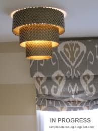 Diy Punched Tin Lamp Shade by Simple Details Diy Tiered Pendant Tutorial