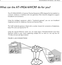 IMG616W Multiservice Gateway User Manual 613-001172_A Allied ...