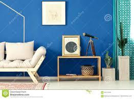blaues wohnzimmer mit kaktus stockfoto bild zustand