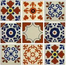 4 25 x4 25 classic ceramic mexican tile design 9 set