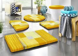 badgarnitur mit rutschhemmender rückseite größe 112 wc deckelbezug 47 50 cm gelb