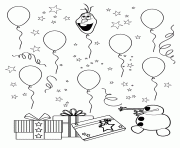 Printable Olaf Head Is A Balloon Colouring Page Coloring Pages