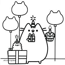 Pusheen Coloring Pages Color Book Page Kids Cavasecreta