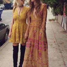 100 The Madalion Medallion Maxi Dress In Mustard Sweet Boho Fall Dresses From