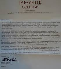 File Lafayette College admissions department waitlist letter