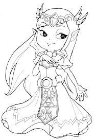 Zelda Coloring Pages Princess Toon