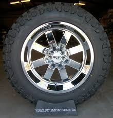 5)20x12 Chrome Moto Metal 962 Wheels W/ 35