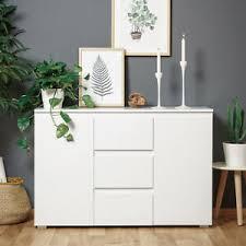 details zu sideboard beistellschrank kommode weiß matt wohnzimmer schrank 2 türig blanc 4