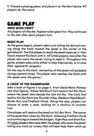 Instruction Manual For The Fireball Island Board Game