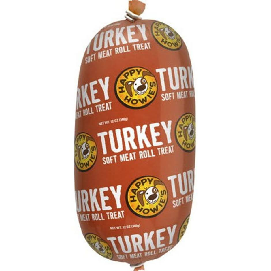 Happy Howie's Premium Turkey Roll Dog Treat, 12-oz Roll