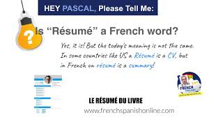 Hey Pascal, Is Resume A French Word? - YouTube A Good Sample Theater Resume Templates For French Translator New Job Application Letter Template In Builder Lovely Celeste Dolemieux Cleste Dolmieux Correctrice Proofreader Teacher Cover Latex Example En Francais Exemples Tmobile Service Map Francophone Countries City Scientific Maker For Students Student