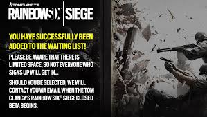 siege test rainbow six siege beta doesn t actually require pre order