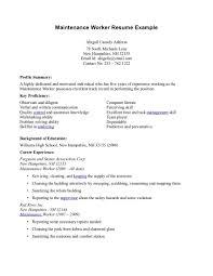 Maintenance Resume Sample Housekeeping Job Description Host Hostess Example Restaurant Amp Bar Resumes
