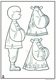 Chinese Dress Up Coloring Pages Free