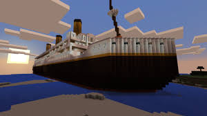 Minecraft Titanic Sinking Map by Scale Rms Titanic Creation Minecraft Pe Maps