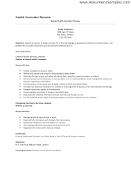 Licensed Professional Counselor Resume S Summer