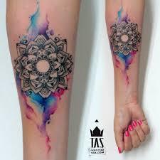 Mandala watercolor tattoo just add a flower Tattoos