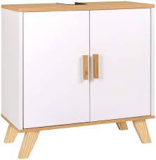 bathroom cabinet with 2 doors 60 x 30 x 60 cm white