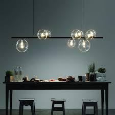 nordic glas kronleuchter licht moderne esszimmer leuchte decor hängen licht suspension led le
