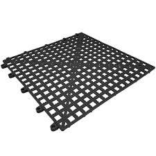 dri dek 2554 ct black 12x12 interlocking vinyl drain tile corner