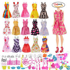 Doll Clothes Party Gown Outfits And Accessories For Barbie Braces Skirt