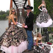 printing pink camo camouflage wedding dresses 2015 new styles