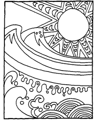 Beach Scene Coloring Pages Adult