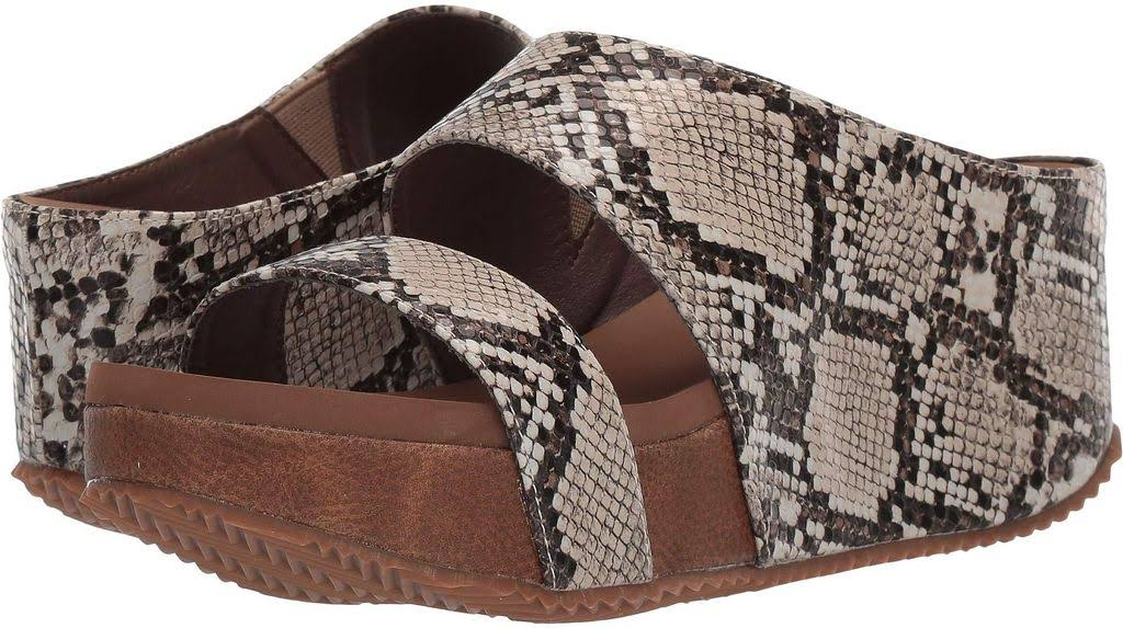 Volatile Justify Snake Print Wedge in Natural Multi