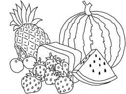 Coloring Pages Fruits Vegetables AZ
