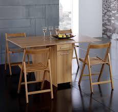 supérieur table de cuisine pliante avec chaises integrees 3